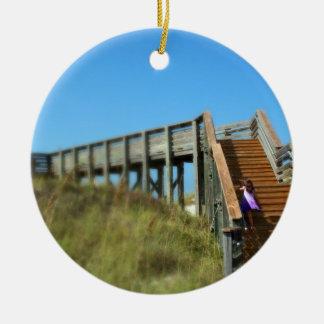 Cape San Blas Boardwalk, Florida beach girl Ornaments