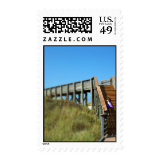 Cape San Blas Boardwalk, Florida beach girl Postage