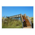 Cape San Blas Boardwalk, Florida beach girl Postcard