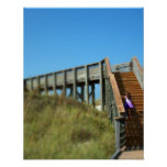 Cape San Blas Boardwalk, Florida beach girl Poster