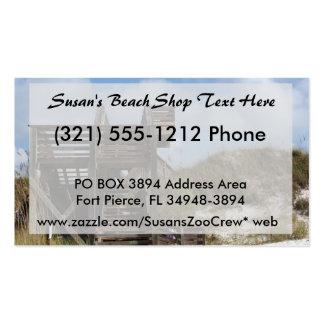 Cape San Blas Florida Dunewalk from beach side Business Card