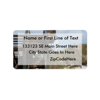 Cape San Blas Florida Dunewalk from beach side Address Label