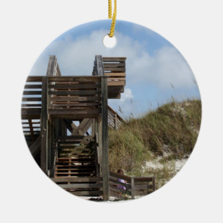 Cape San Blas Florida Dunewalk from beach side Christmas Ornament