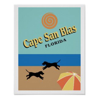 Cape San Blas Florida poster