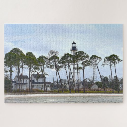 Cape San Blas Lighthouse, Port St. Joe, Florida Jigsaw Puzzle
