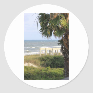 Cape San Blas Ocean Sea Mermaid Salt   Classic Round Sticker