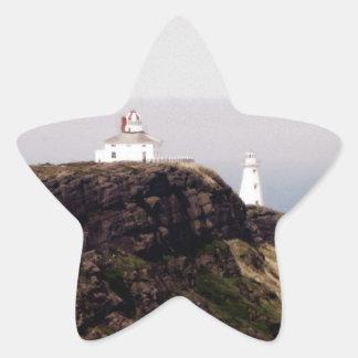 Cape Spear Lighthouse Star Sticker