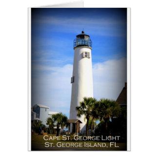 CAPE ST. GEORGE LIGHTHOUSE - ST. GEORGE ISLAND, FL CARD