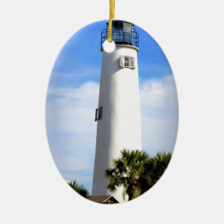 CAPE ST. GEORGE LIGHTHOUSE - ST. GEORGE ISLAND, FL CERAMIC ORNAMENT