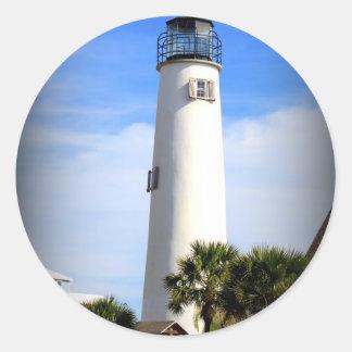 CAPE ST. GEORGE LIGHTHOUSE - ST. GEORGE ISLAND, FL CLASSIC ROUND STICKER