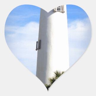 CAPE ST. GEORGE LIGHTHOUSE - ST. GEORGE ISLAND, FL HEART STICKER