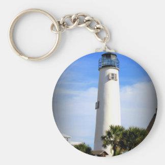 CAPE ST. GEORGE LIGHTHOUSE - ST. GEORGE ISLAND, FL KEYCHAIN