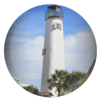 CAPE ST. GEORGE LIGHTHOUSE - ST. GEORGE ISLAND, FL MELAMINE PLATE