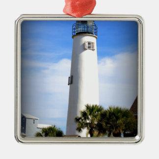 CAPE ST. GEORGE LIGHTHOUSE - ST. GEORGE ISLAND, FL METAL ORNAMENT