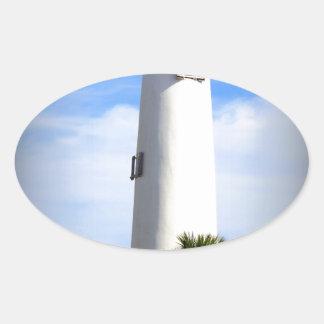 CAPE ST. GEORGE LIGHTHOUSE - ST. GEORGE ISLAND, FL OVAL STICKER