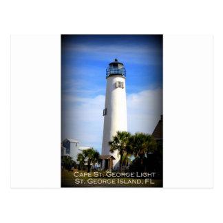 CAPE ST. GEORGE LIGHTHOUSE - ST. GEORGE ISLAND, FL POSTCARD