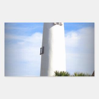CAPE ST. GEORGE LIGHTHOUSE - ST. GEORGE ISLAND, FL RECTANGULAR STICKER
