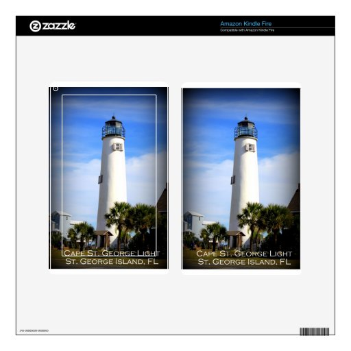 CAPE ST. GEORGE LIGHTHOUSE - ST. GEORGE ISLAND, FL KINDLE FIRE DECAL