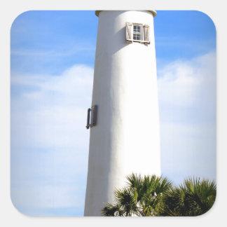 CAPE ST. GEORGE LIGHTHOUSE - ST. GEORGE ISLAND, FL SQUARE STICKER