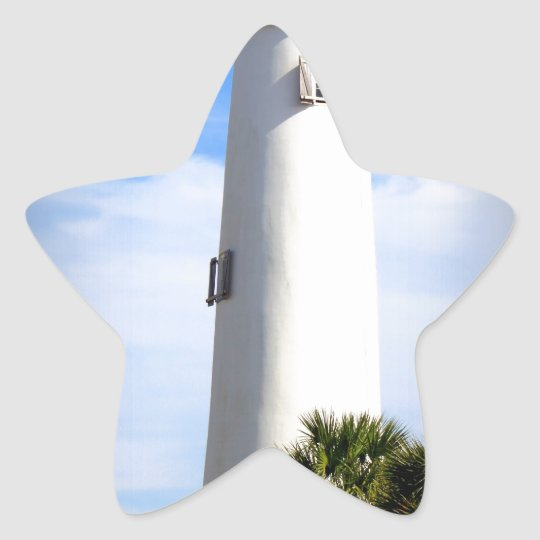 CAPE ST. GEORGE LIGHTHOUSE - ST. GEORGE ISLAND, FL STAR STICKER