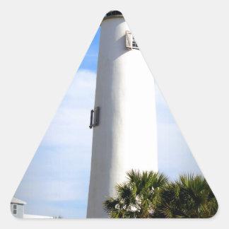 CAPE ST. GEORGE LIGHTHOUSE - ST. GEORGE ISLAND, FL TRIANGLE STICKER