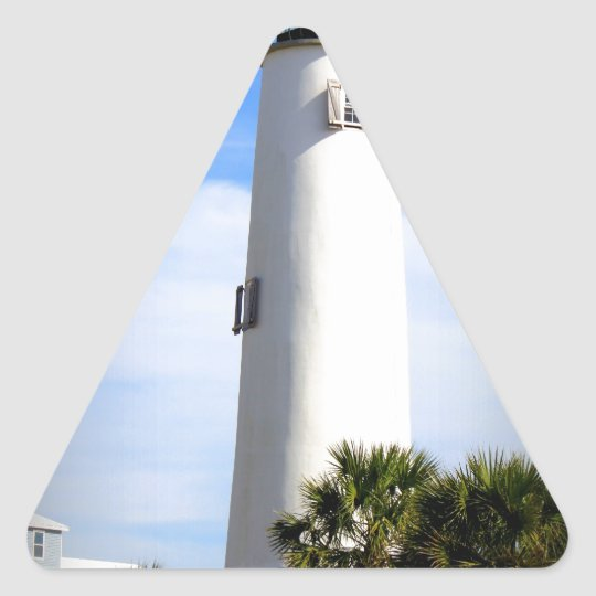 CAPE ST. GEORGE LIGHTHOUSE - ST. GEORGE ISLAND, FL TRIANGLE STICKER
