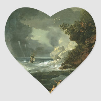 Cape Stephens in Cook's Straits Heart Sticker