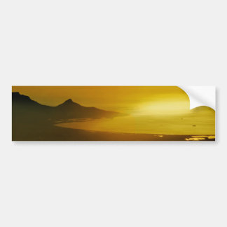 Cape Town aerial view at sunset Car Bumper Sticker
