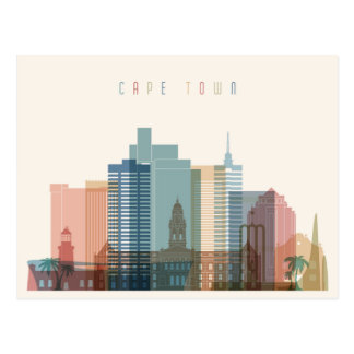 Cape Town, Africa   City Skyline Postcard