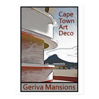 Cape Town Art Deco - Geriva Mansions Postcard