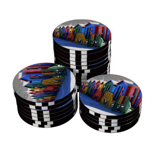 Cape Town Beach Huts Poker Chips