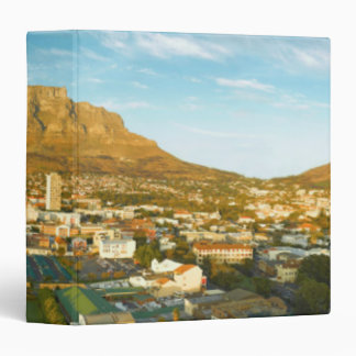 Cape Town Cityscape With Table Mountain 3 Ring Binder