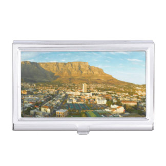 Cape Town Cityscape With Table Mountain Business Card Holder