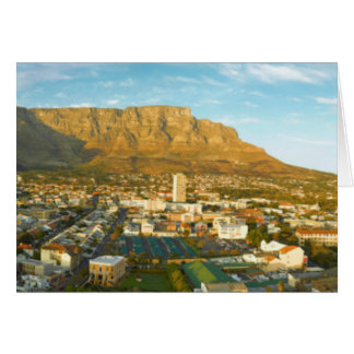 Cape Town Cityscape With Table Mountain Card