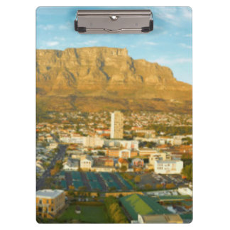 Cape Town Cityscape With Table Mountain Clipboard