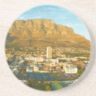 Cape Town Cityscape With Table Mountain Coaster