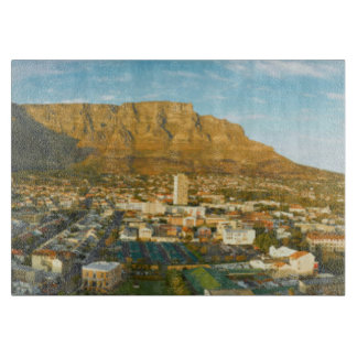 Cape Town Cityscape With Table Mountain Cutting Board