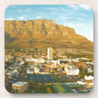 Cape Town Cityscape With Table Mountain Drink Coaster