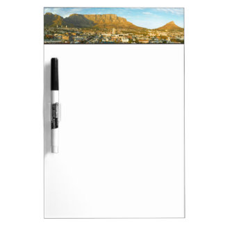 Cape Town Cityscape With Table Mountain Dry-Erase Board