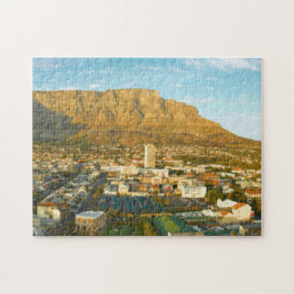 Cape Town Cityscape With Table Mountain Jigsaw Puzzle