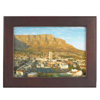 Cape Town Cityscape With Table Mountain Keepsake Box