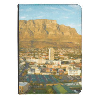 Cape Town Cityscape With Table Mountain Kindle Case