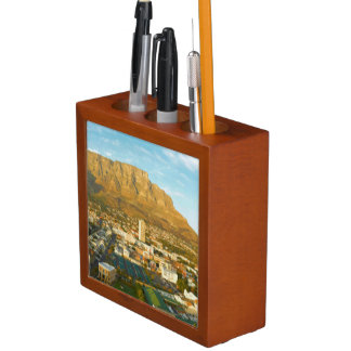Cape Town Cityscape With Table Mountain Pencil Holder