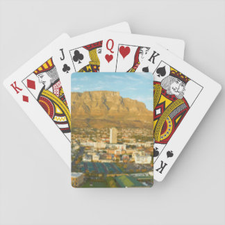 Cape Town Cityscape With Table Mountain Poker Deck