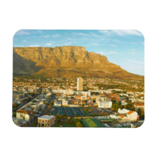 Cape Town Cityscape With Table Mountain Rectangular Photo Magnet