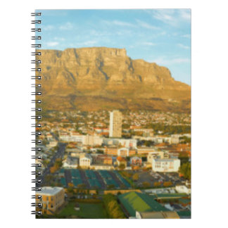 Cape Town Cityscape With Table Mountain Spiral Notebook