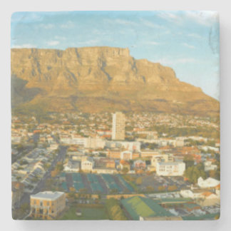 Cape Town Cityscape With Table Mountain Stone Coaster