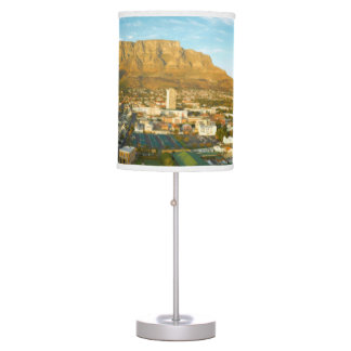 Cape Town Cityscape With Table Mountain Table Lamp