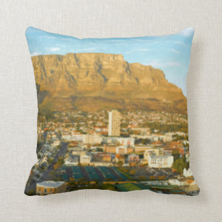Cape Town Cityscape With Table Mountain Throw Pillow
