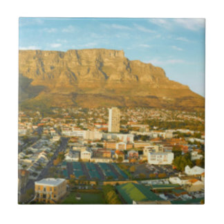 Cape Town Cityscape With Table Mountain Tile